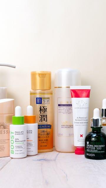 Biologique Recherche, Paula's Choice, Mizon, Iunik, Shiseido, Drunk Elephant, Hada Labo