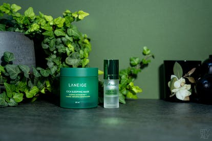 Laneige Cica Sleeping Mask, Isntree Cica Relief Ampoule